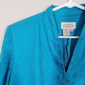 Adrianna Papell silk Vintage Blazer